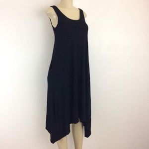 Gap Dress Black XS Slinky Tank Sharkbite
